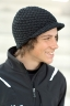 SALLER čepice pletená s kšiltem