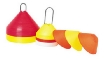 Treninkový klobouček - set 30, výška 15 cm, průměr 30 cm, 15xžlutý, 15xčervený